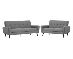 Connelly 2 Seater Sofa and 3 Seater Sofa Bundle Deal (Grey)