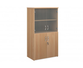 All Beech Glazed Top Cupboards