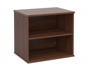 All Walnut Desk End Bookcase