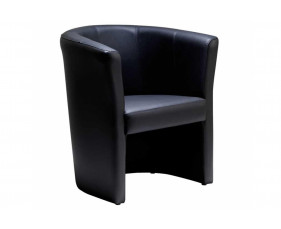 Leather Faced Tub Chair
