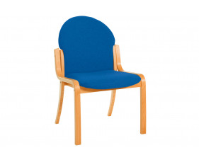 Braxton Wood Framed Reception Side Chair