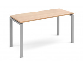Prime Single Bench Narrow Desk (Silver Legs)