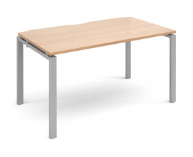 Prime Single Bench Desk (Silver Legs)
