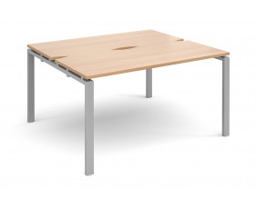 Prime Back To Back Single Narrow Bench Desk (Silver Legs)