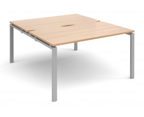 Prime Back To Back Single Bench Desk (Silver Legs)