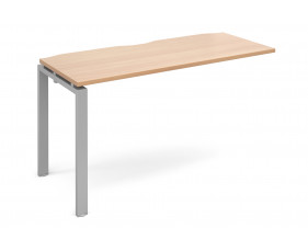 Prime Add On Narrow Desk (Silver Legs)