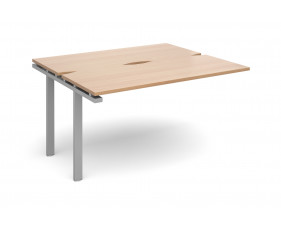 Prime Back To Back Add On Narrow Bench Desk (Silver Legs)