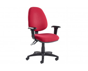 Vantage deluxe operator chair with adjustable arms