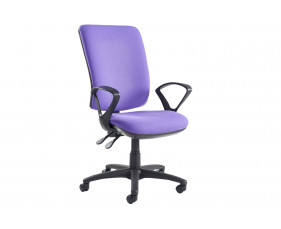 Isla High Back Operator Chair With Fixed Arms
