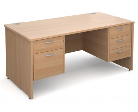 Value Line Deluxe Panel End Desk 2+3 Drawers