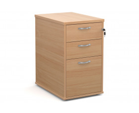 All Beech Desk High Pedestal