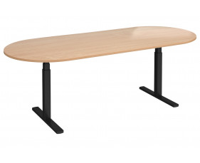 Ascend Radial End Boardroom Table