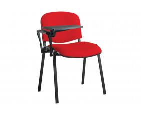Volta Conference Chair With Writing Tablet (Black Frame)