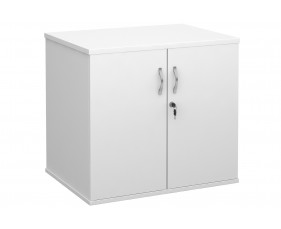 All White Desk End Cupboard