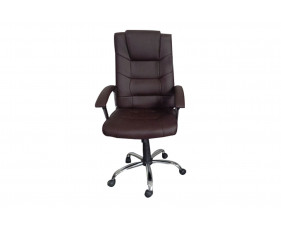 Skye High Back Brown Leather Faced Executive Chair