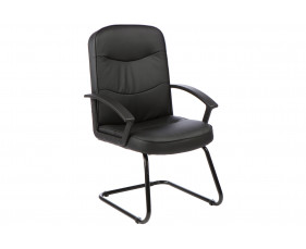 Doha Leather Faced Visitor Chair