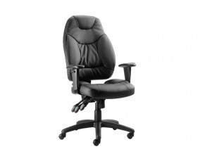 Ankara High Back Leather Faced Operator Chair
