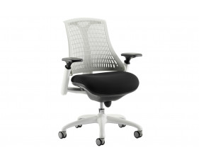 Warp White Frame White Mesh Back Operator Chair