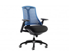 Warp Black Frame Blue Mesh Back Operator Chair