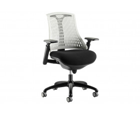 Warp Black Frame White Mesh Back Operator Chair
