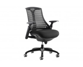 Warp Black Frame Black Mesh Back Operator Chair