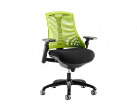 Warp Black Frame Green Mesh Back Operator Chair