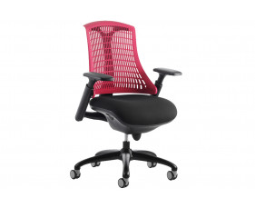Warp Black Frame Red Mesh Back Operator Chair