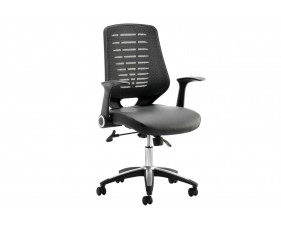 Baton Mesh Back Operator Chair With Leather Seat