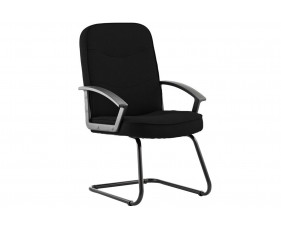 Doha Fabric Visitor Chair Black