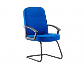 Doha Fabric Visitor Chair Blue