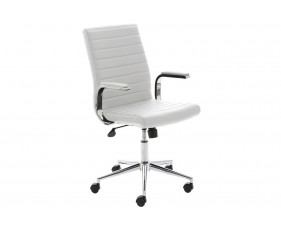 Wexford Executive Bonded Leather Chair (White)