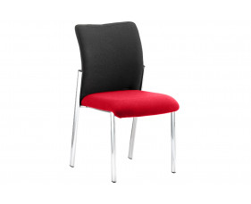 Guild 4 Leg Side Chair With Black Fabric Back