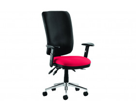Praktikos High Back Posture Operator Chair Black Back