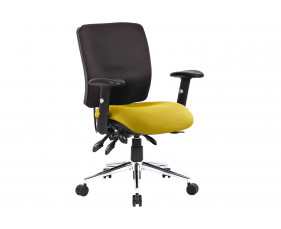 Praktikos Medium Back Posture Operator Chair Black Back