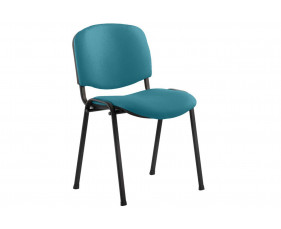 ISO Black Frame Conference Chair (Maringa Teal)