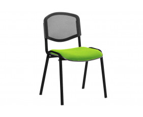ISO Black Frame Mesh Back Conference Chair (Myrrh Green)