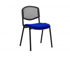 ISO Black Frame Mesh Back Conference Chair (Stevia Blue)