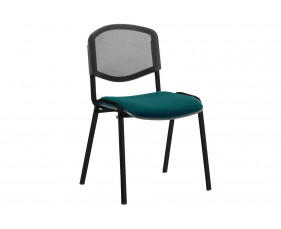 ISO Black Frame Mesh Back Conference Chair (Maringa Teal)
