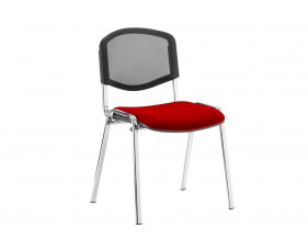 ISO Chrome Frame Mesh Back Conference Chair (Bergamot Cherry)