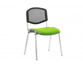 ISO Chrome Frame Mesh Back Conference Chair (Myrrh Green)