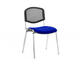ISO Chrome Frame Mesh Back Conference Chair (Stevia Blue)