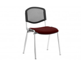 ISO Chrome Frame Mesh Back Conference Chair (Ginseng Chilli)