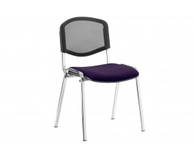 ISO Chrome Frame Mesh Back Conference Chair (Tansy Purple)