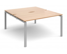 Prime Back To Back Starter Bench Desk (Silver Legs)