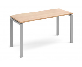Prime Starter Narrow Bench Desk (Silver Legs)