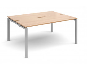 Prime Back To Back Narrow Starter Bench Desk (Silver Legs)