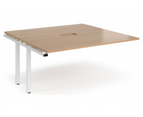 Prime Power Ready Boardroom Add On Table (White Frame)