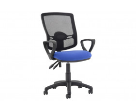 Lunar Plus 2 Lever Deluxe Mesh Back Operator Chair (Fixed Arms)