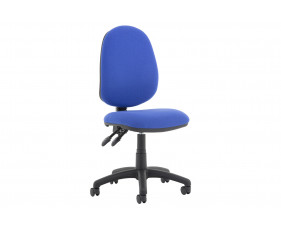 Lunar Plus 2 Lever Fabric Operator Chair (No Arms)
