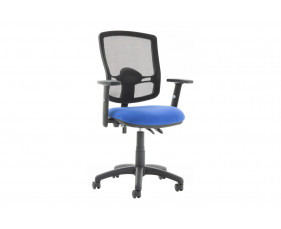 Lunar Plus 2 Lever Deluxe Mesh Back Operator Chair (Adjustable Arms)